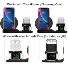 Load image into Gallery viewer, Wireless Charger Stand for iPhone AirPods And Apple Watch - Shop Gigatrendy.com Trending Products
