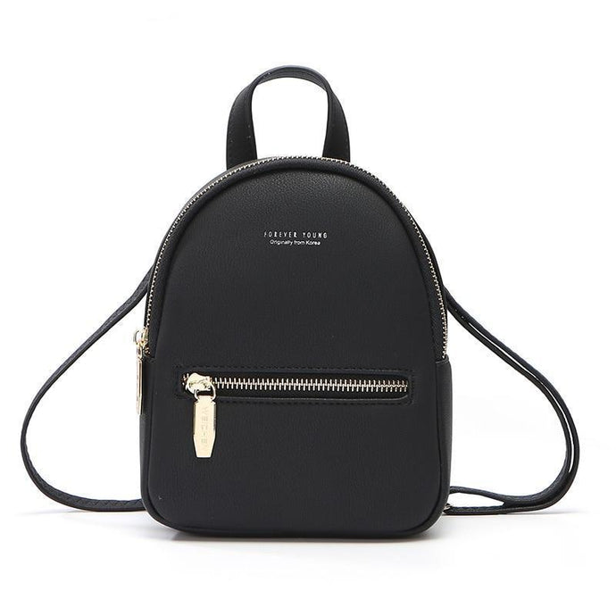 Giga Supreme Z-Style Leather Mini Backpack Purse - Shop Gigatrendy.com Trending Products