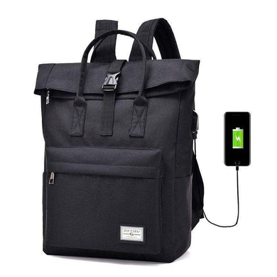 New Canvas College School Backpack | Gigatrendy.com