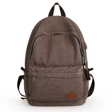 Retro USB Design Washed Canvas Backpack | Gigatrendy.com