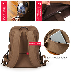 Canvas School Backpack LC USB - Shop Gigatrendy.com Trending Products