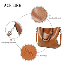 Load image into Gallery viewer, Tote,Giga Accent Fashion Oil Wax Leather Tote | Gigatrendy.com