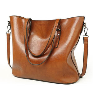 Giga Accent Fashion Oil Wax Leather Tote - Shop Gigatrendy.com Trending Products