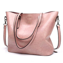 Load image into Gallery viewer, Giga Accent Fashion Oil Wax Leather Tote - Shop Gigatrendy.com Trending Products