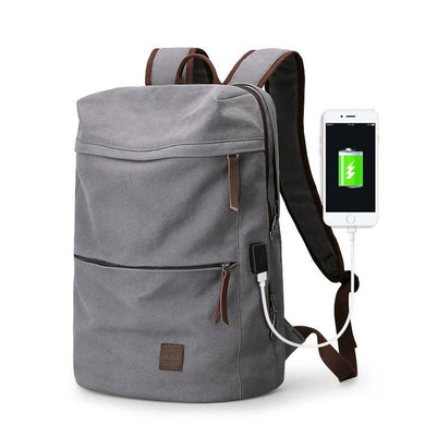 School Backpack,Canvas School Backpack With USB | Gigatrendy.com