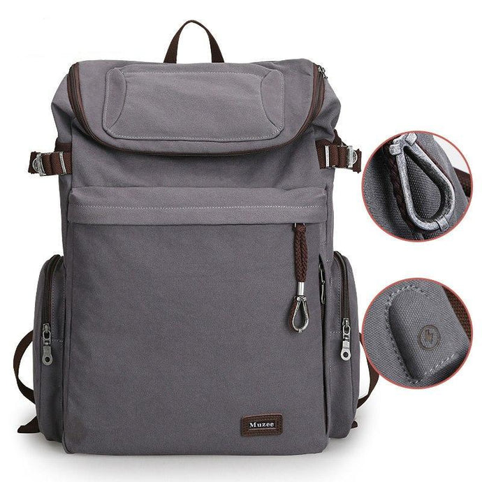 School Backpack,Canvas Vintage School Backpack With USB | Gigatrendy.com