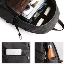 Load image into Gallery viewer, Retro USB Design Washed Canvas Backpack - Shop Gigatrendy.com Trending Products