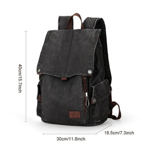 Canvas School Backpack USB CP AT - Shop Gigatrendy.com Trending Products