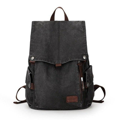 Canvas School Backpack USB CP AT | Gigatrendy.com