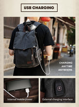 Load image into Gallery viewer, Canvas School Backpack USB CP AT - Shop Gigatrendy.com Trending Products