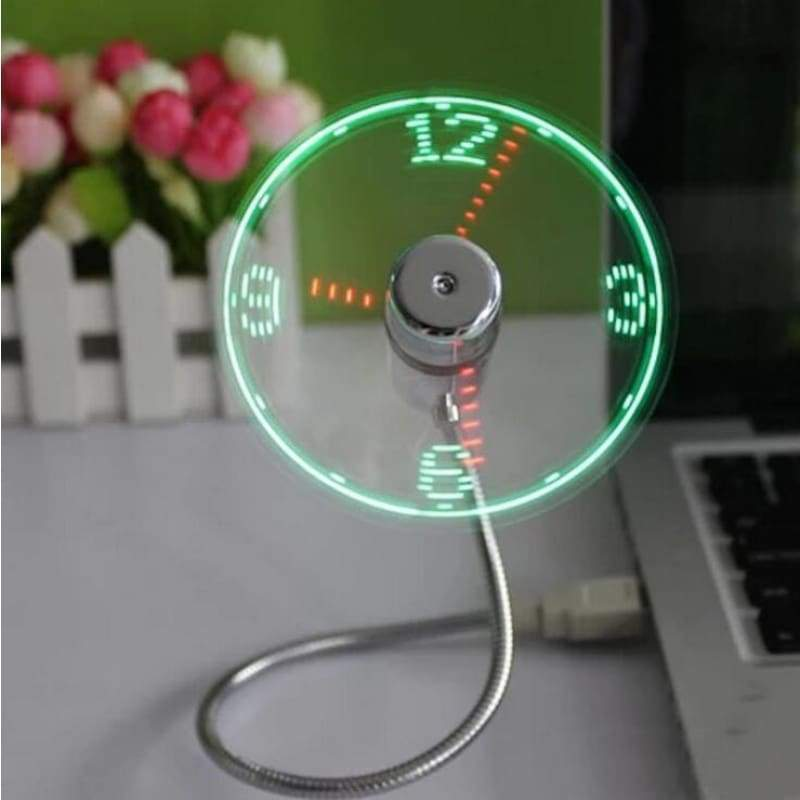 USB LED Fan Clock,Funny MINI USB LED Clock Fan | Gigatrendy.com