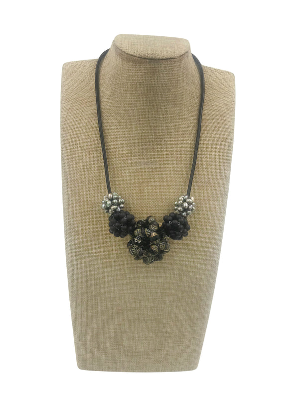 Black Woven Beaded Beads