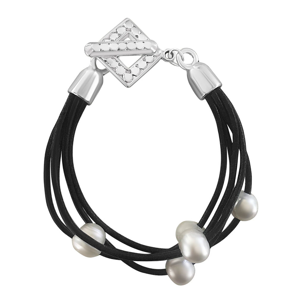 Sweet and Stunning 5 Strand Pearl Bracelet