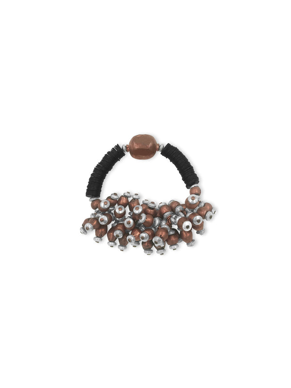 Bunches of copper and silver bracelet