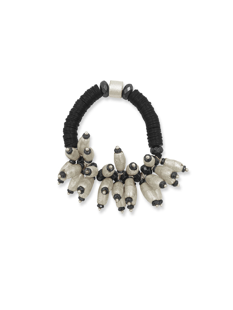 Clusters of Silver and Black Bracelet-the lighter version