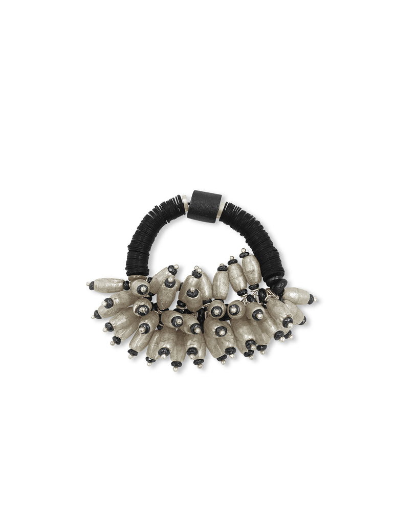 Clusters of Silver and Black Bracelet-The Chunky Version