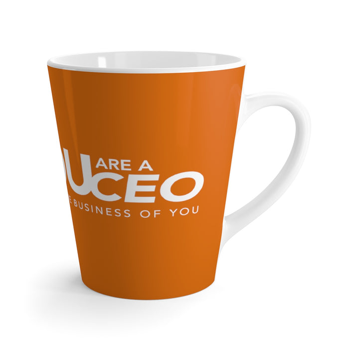 You Are a CEO Latte Mug in Orange