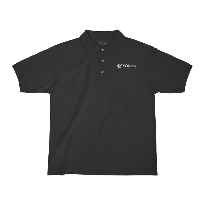 Embroidered You Are a CEO Polo Shirt in White for Men