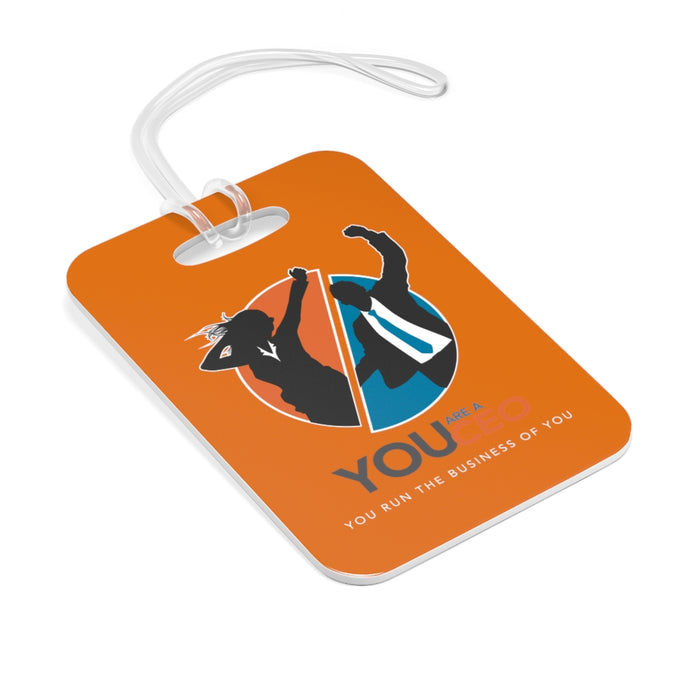 You Are a CEO Travel Tag in Bright Orange