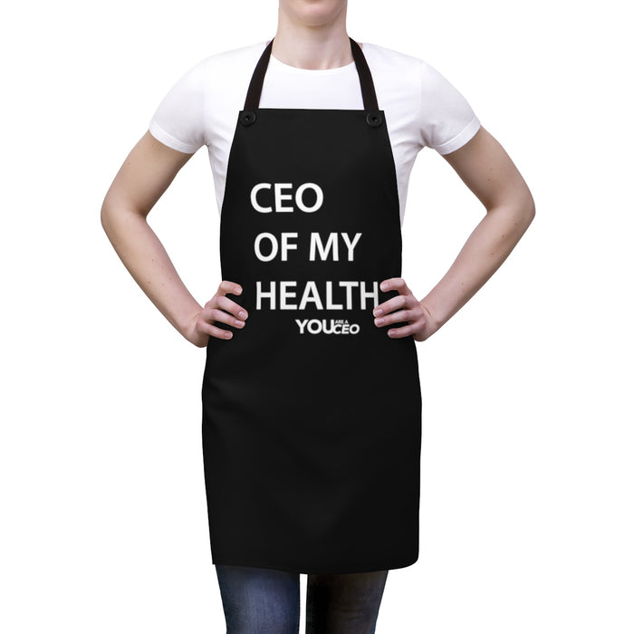CEO OF MY HEALTH Lightweight Apron (no pockets)