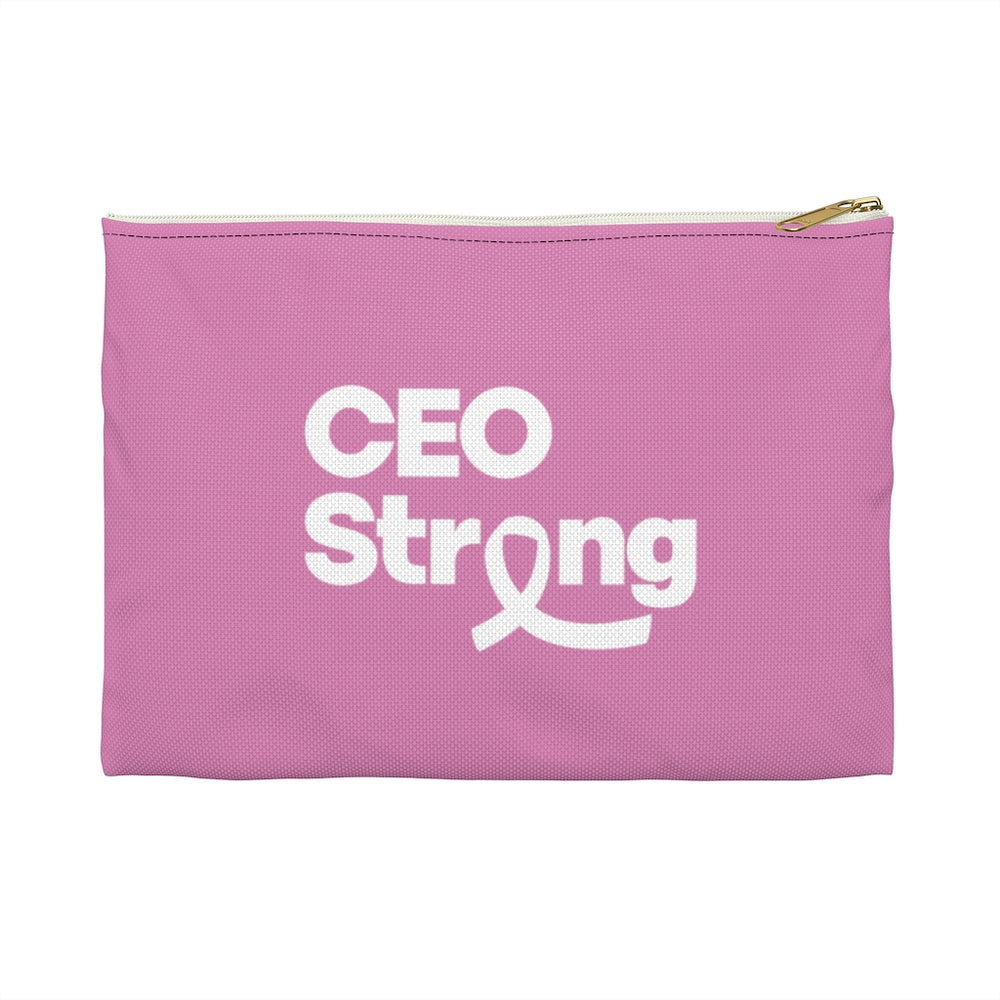 I Am CEO Strong Accessory Travel Bag | Breast Cancer Awareness