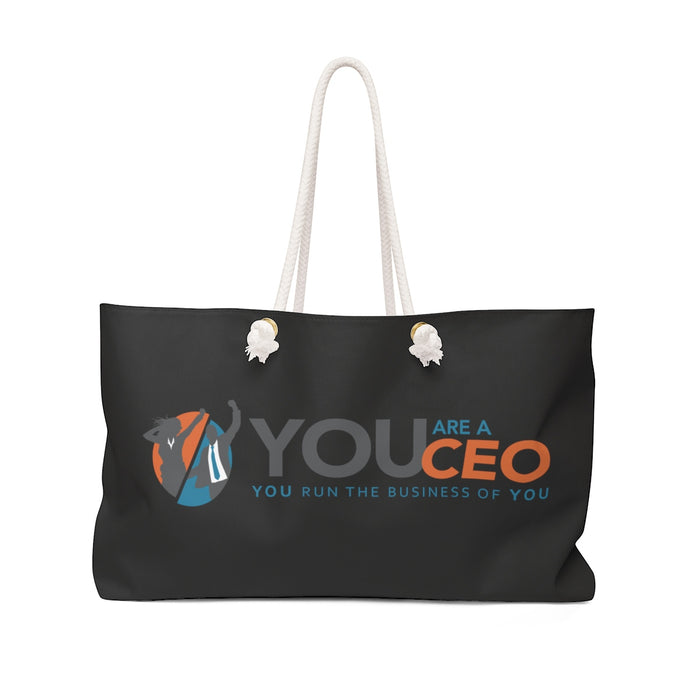 You Are a CEO Weekender Bag in Black