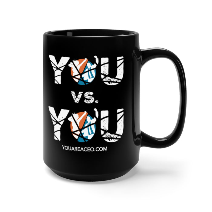 YOU vs. YOU Distressed Coffee Mug