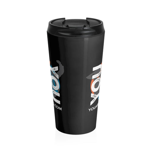 YOU vs. YOU Stainless Steel Travel Mug in Black