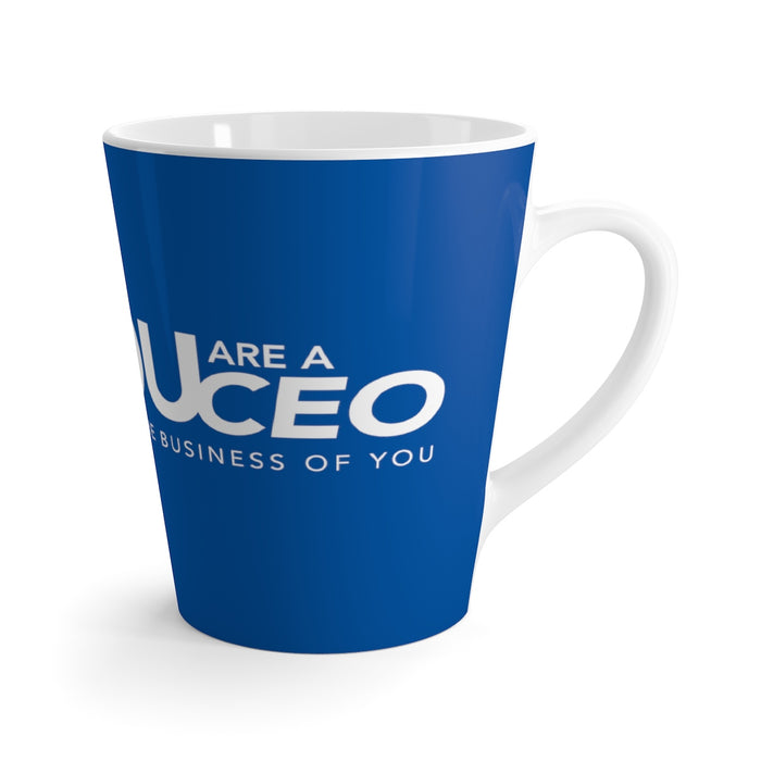 You Are a CEO Latte Mug in Blue