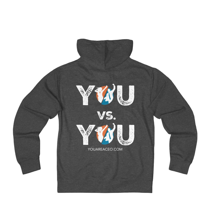 YOU vs. YOU Distressed Zip Hoodie for Men