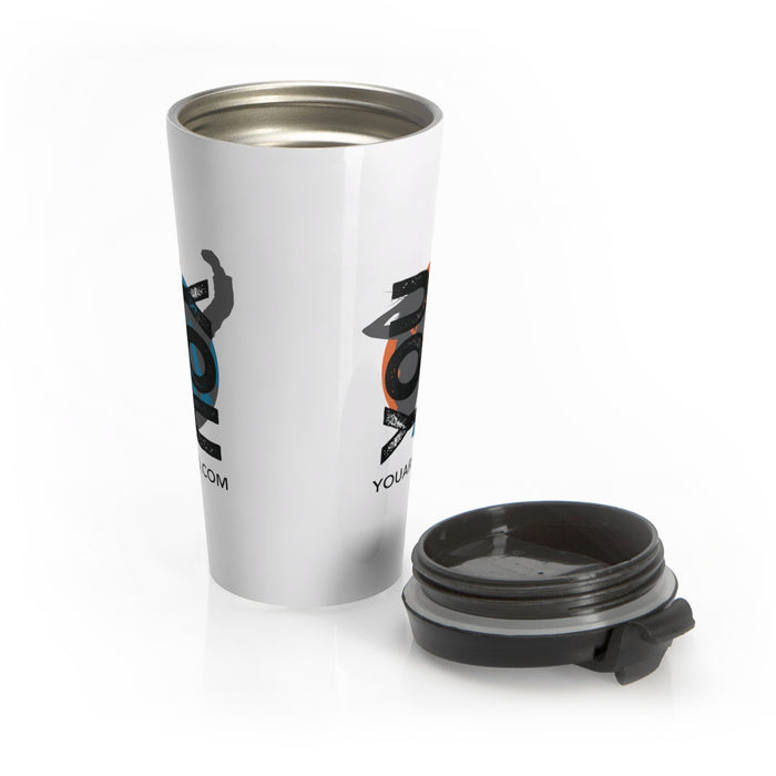 YOU vs. YOU Stainless Steel Travel Mug in White