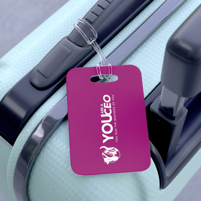 You Are a CEO Travel Tag in Bright Plum