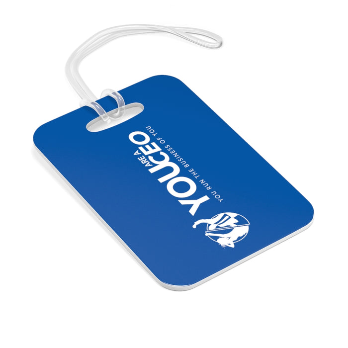 You Are a CEO Travel Tag in Bright Blue