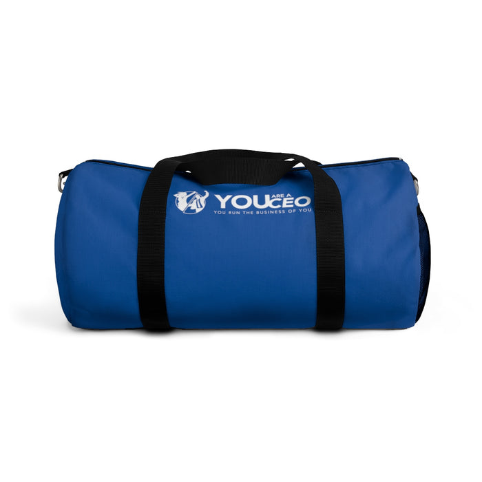 You Are a CEO Duffel Bag in Blue
