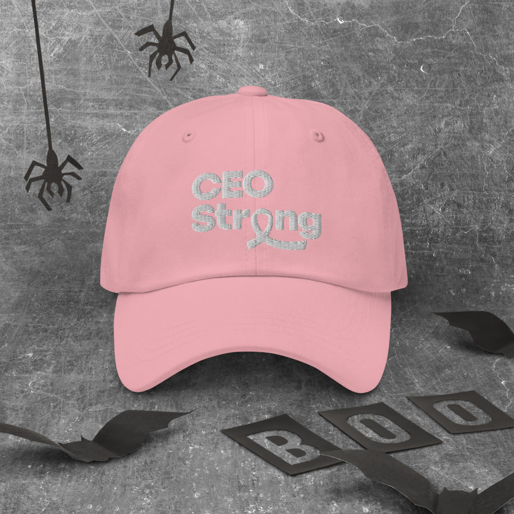 I Am CEO Strong Baseball Cap | Breast Cancer Awareness
