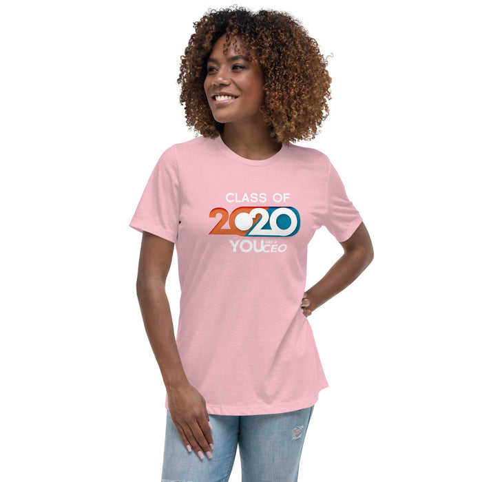 Retro Class of 2020 Relaxed Shirt for Women