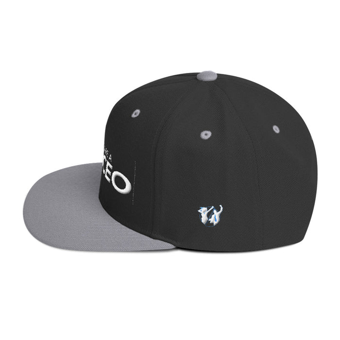 You Are a CEO Flat Bill Hat in White