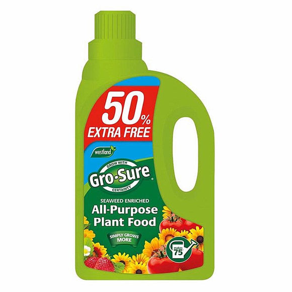 GRO-SURE ALL PURPOSE PLANT FOOD CONC. 1LTR + 50% EXTRA FREE