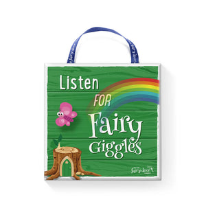 Irish Fairy Door Plaque (Listen For Fairy Giggles)