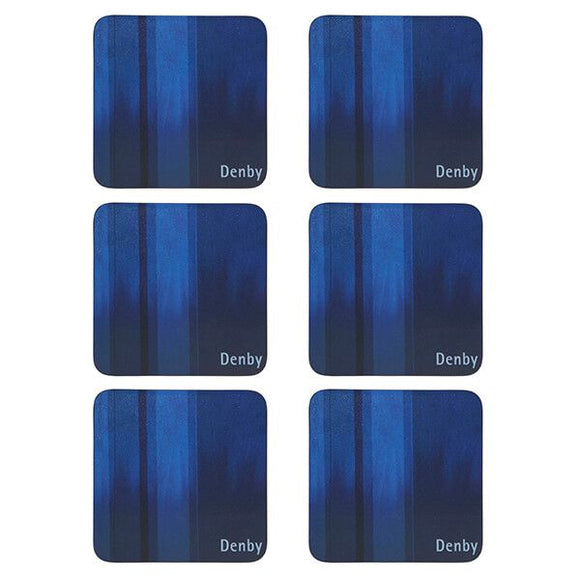 DENBY COLOURS BLUE 6PC COASTERS
