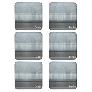 DENBY COLOURS GREY 6PC COASTERS
