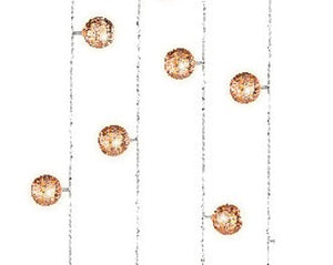 Copper Metal Ball Lights 380cm 20L WW