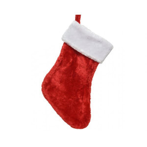 FABRIC STOCKING 40CM RED