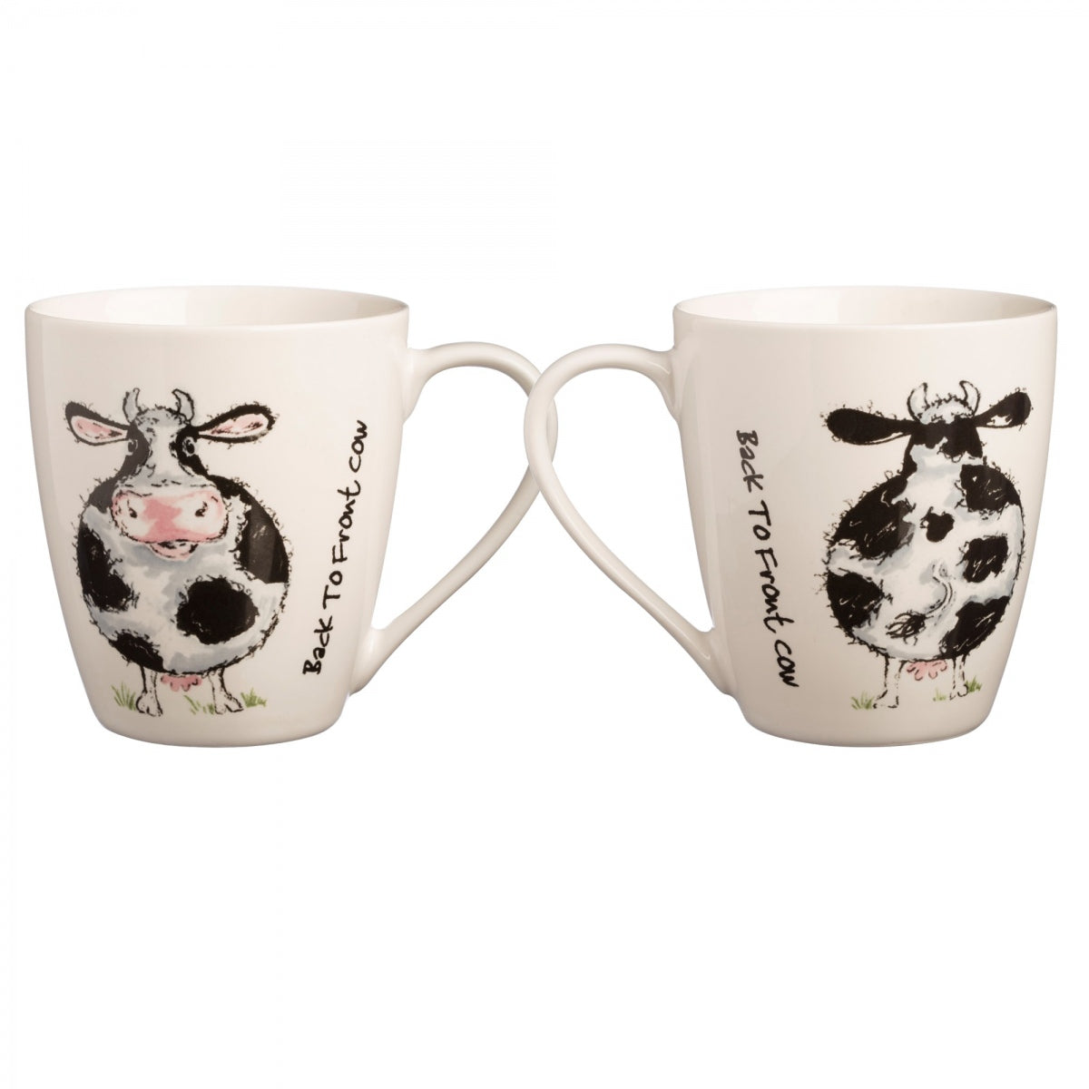 FINE CHINA MUG COW BACK TO FRONT