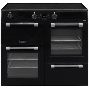 LEISURE 100CM COOKMASTER INDUCTION RANGE COOKER IN BLACK
