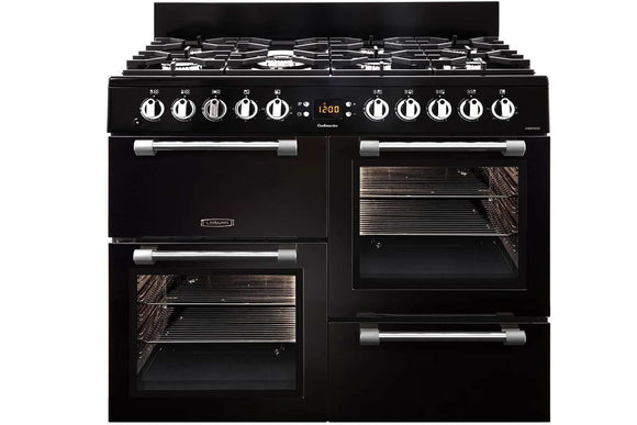 LEISURE 100CM COOKMASTER DUAL FUEL RANGE COOKER IN BLACK
