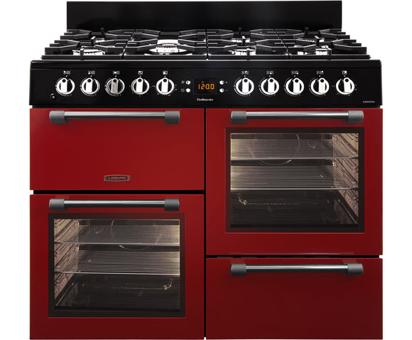 LEISURE 100CM COOKMASTER DUAL FUEL RANGE COOKER IN RED