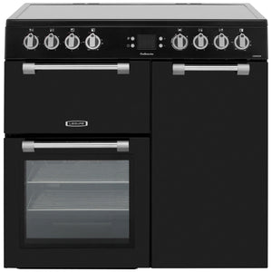 LEISURE 90CM COOKMASTER ELECTRIC RANGE COOKER IN BLACK