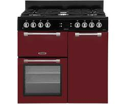 LEISURE 90CM COOKMASTER DUAL FUEL RANGE COOKER IN RED
