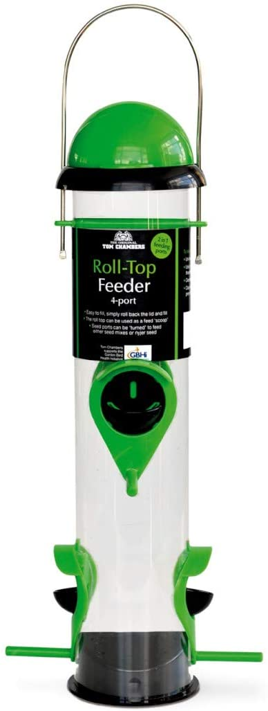 ROLL TOP SEED FEEDER 4 PORT